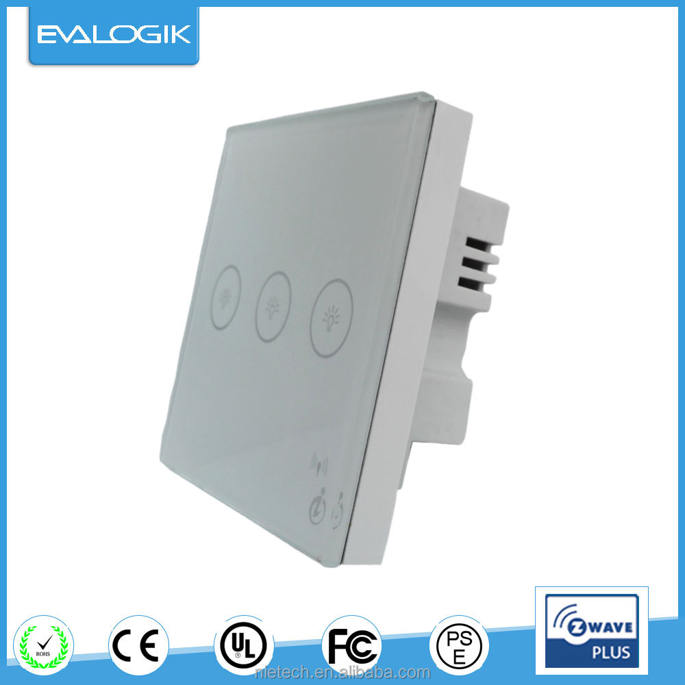 Home networking 3 gang touch switch (ZW243)