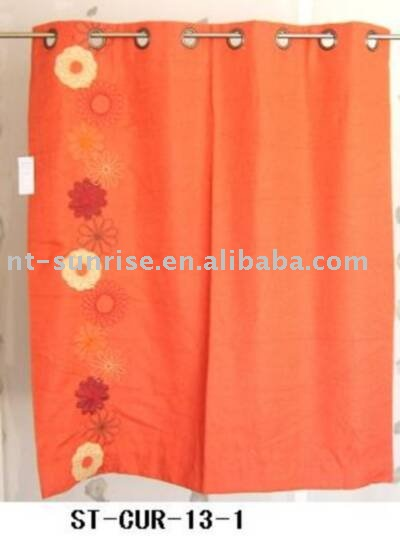 Bright colour embroidery cafe curtains