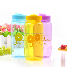 2016 BPA free 1L wide mouth plastic sports water bottle with screw cap and private label