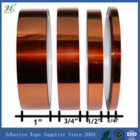 ISO 9001:2008 Certified 3M Equivalent Silicone adhesive masking polyimide film manufacturers