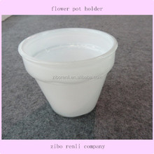 Home Nursery Decor White Glass Pretty Small Flower Pot Holder in Cheap