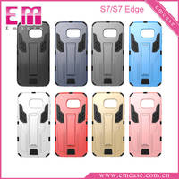 Robot Pattern Plastic Case For Samsung S7 Edge, PC Kickstand Case For Galaxy S7 Edge