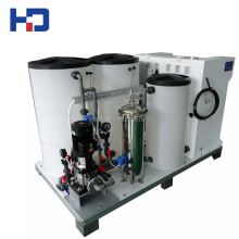 Salt water to drinking water machine for disinfection
