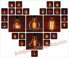 decorative carbon filament vintage edison light bulb for home 40w 60w 100w