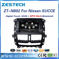 ZESTECH special car dvd player For Nissan SUCCE support 3G BT audio DVB-T MP3 MP4 HDMI USB GPS DVD function