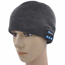 Bluetooth Beanie Hat Knitted Musical Hat Headphone Speaker Women Beanie with Microphone Hands Free Sports Running