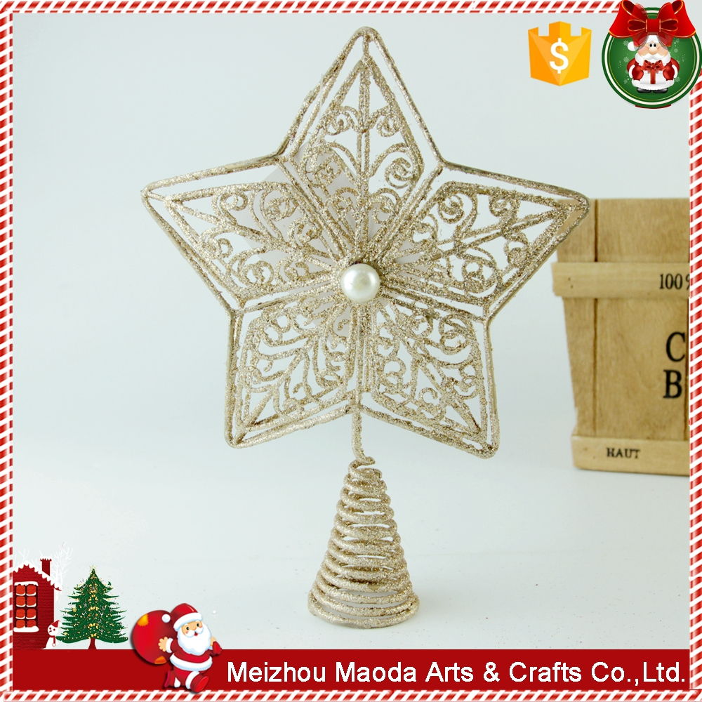 Handmade new products five-star artifical christmas decorations