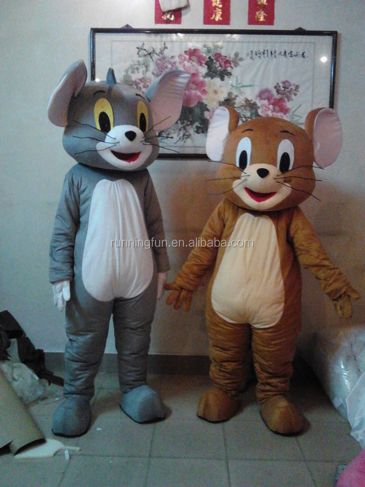 Hot!! high quality CE tom&jerry mascot costumes,cartoon character mascot costumes