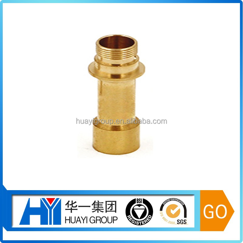 Customized Brass CNC parts gold plated cnc metal smoking pipes brass parts