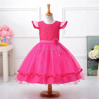 OEM service sweet kids net frock design for girls wedding