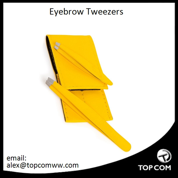 Premium Stainless Steel Eyebrow Tweezers - Best for Removing Eyebrow Hair