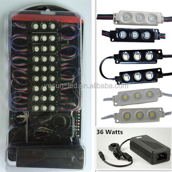 CE RoHS LED Modules and Power Adapter in blister package