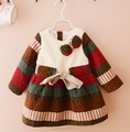 Kids 2016 Hot Selling winter Popular Design Baby Girls velvet Dress wear