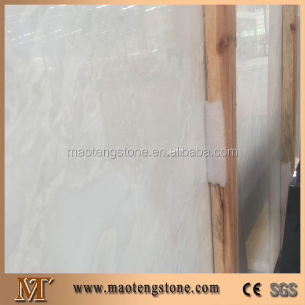 High Quality Popular Big Slabs Polished White Onyx Marble Natural Stone