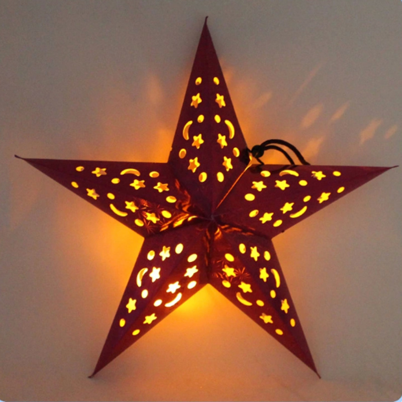 New home decorative plastic wholesale star christmas decorations