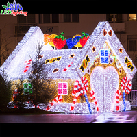 Large Outdoor decoration Christmas LED 3D Motif Light house