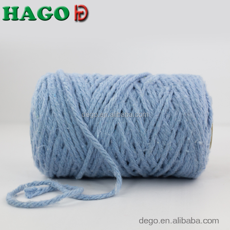 Stocklots Recycled cotton/polyester blended mop yarn