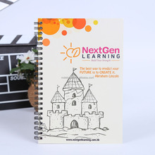 cheap promotional gifts non perforated a5 spiral notebook