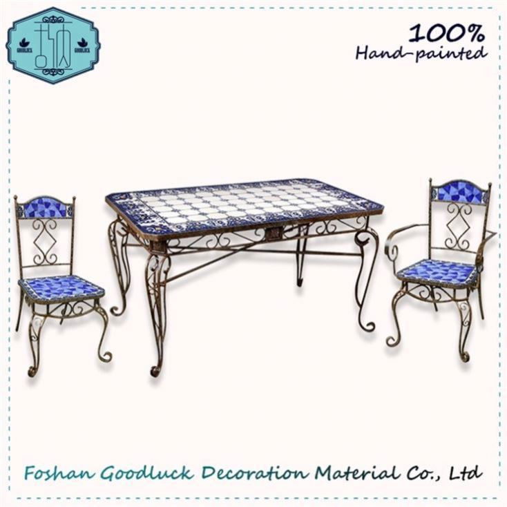 Hand Draw Blue And White Prestige Funky Vintage Restaurant Furniture