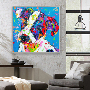 30x30cm east diy home decor 5d colorful dog diamond painting