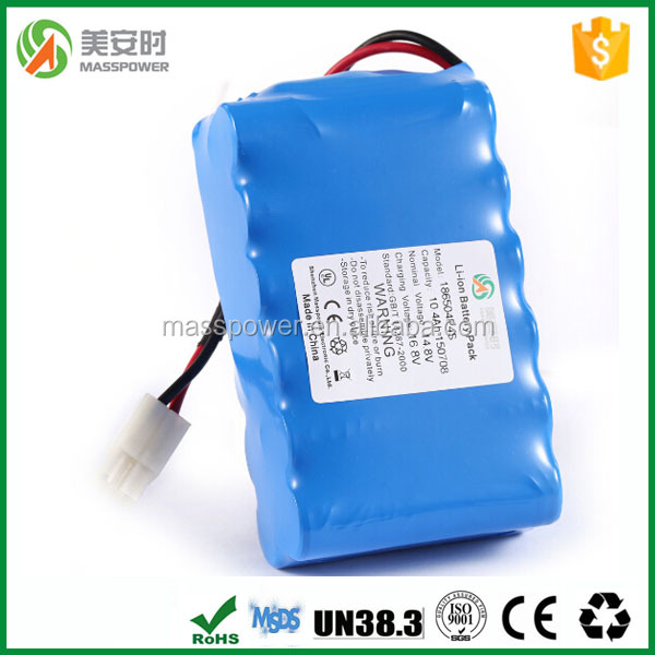 China manufacturer Lithium 18650 battery pack 14.8V 4S3P li-ion bttery pack