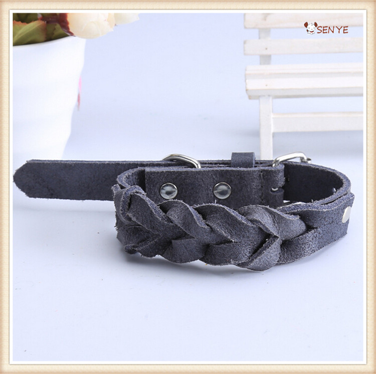 Adjustable Economical Leather Dog Collar Leather Dog Collar Big Dogs