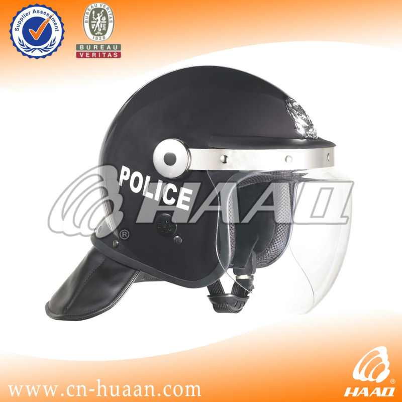 Military riot shield helmet