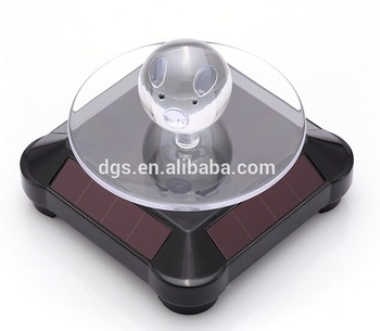 New Creative Turntable Solar Powered Led Display Solar Power Display For Showing Advertising Products Jewelry Exquisite Items