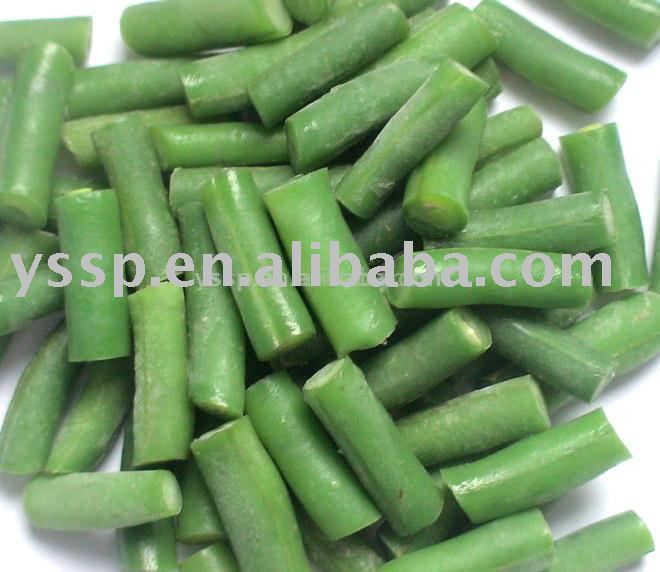 Frozen cut green bean