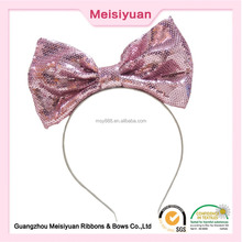 Fashion hair accessory large glitter hair bow tie bow knot headband