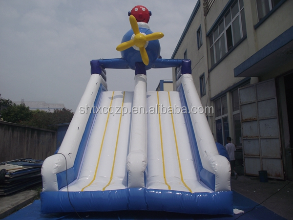 commercial grade inflatable double lane slip slide