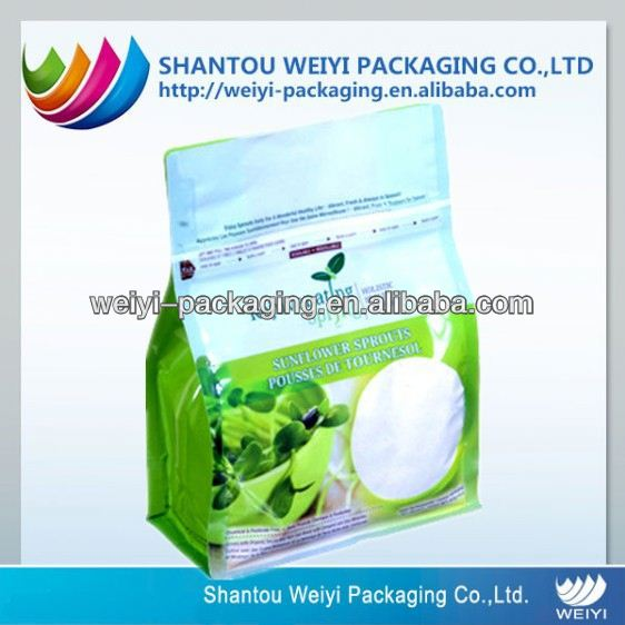 Flat Bottom Plastic Bag for food on roll or block