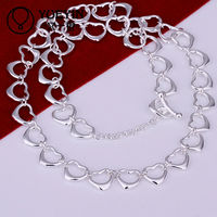 Lekani hearts linked statement necklace chain