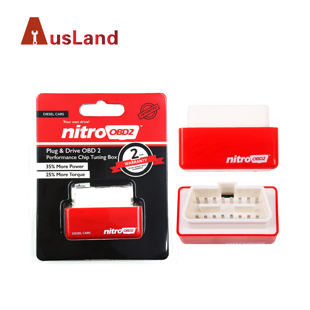 Great Increase Performance Engine NitroOBD2 Diesel Red Auto Professional nitro obd2 chip tuning box