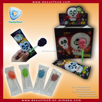 Skull candy lollipop with glow stick toy