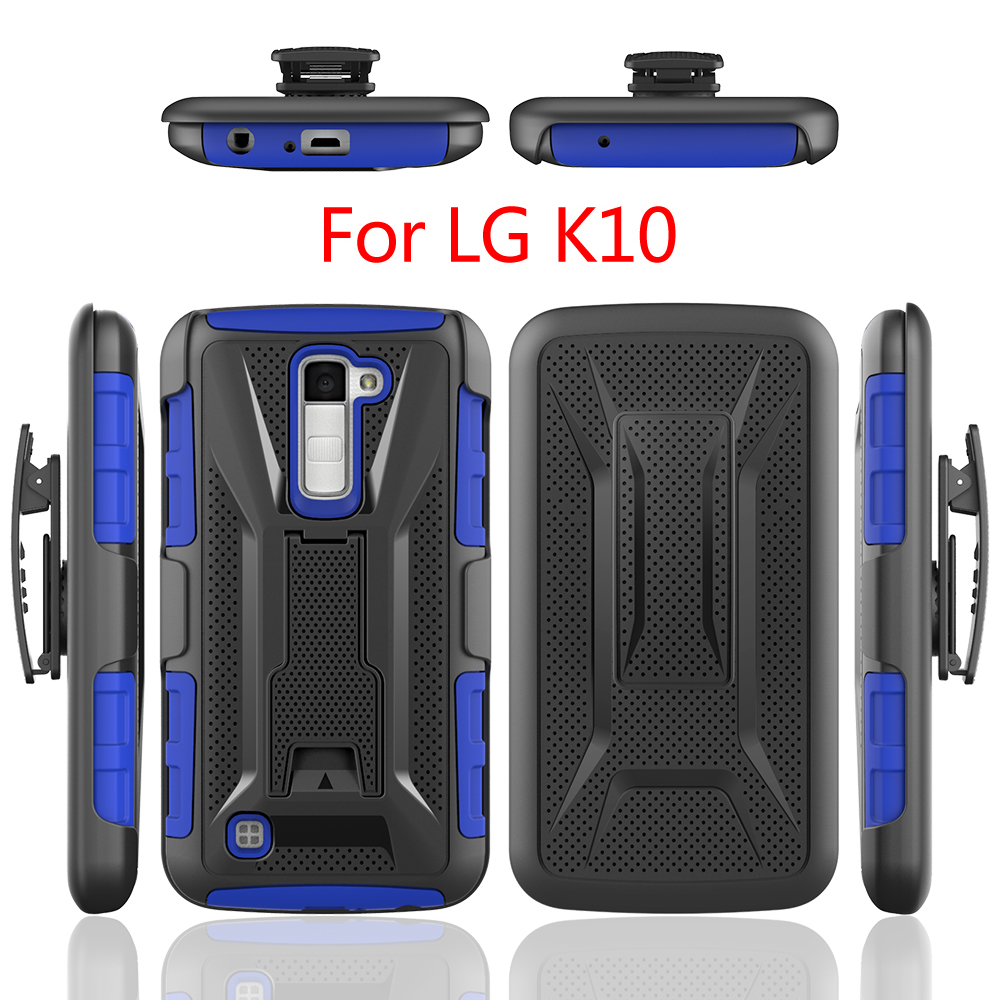 New Hot sale TPU PC 3 <strong>in</strong> 1 Hybrid Cell Phone Case for LG <strong>K10</strong>, For LG <strong>K10</strong> Case