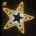 Outdoor LED 3d hanging star for christmas