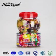 Plastic bottle package global new snacks food ,assorted flavors min fruiti jelly pudding