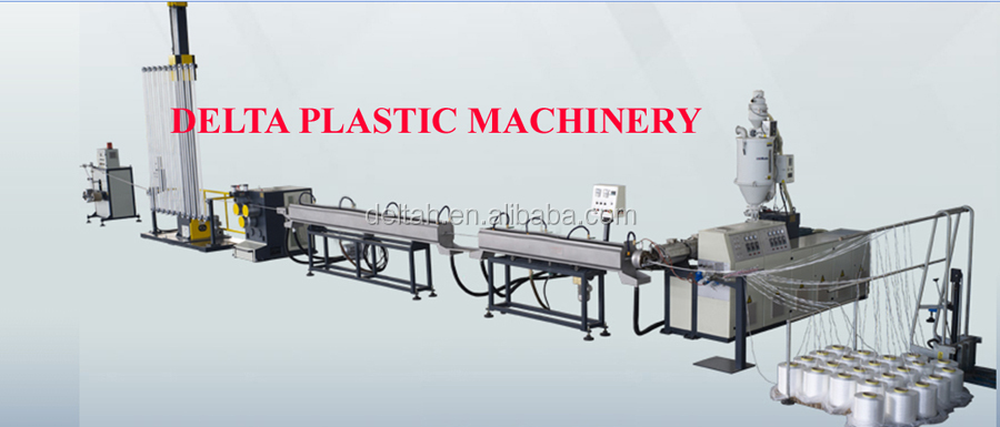 Fiber and plastic Soft packing straps extrusion machine
