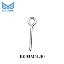 Snowl Stainless decorative cup hooks Screw Eye hook