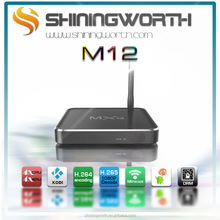 Factory Android Smart TV BOX M12 Amlogic S805 Quad-core chipset android 4.4 Kitkat 1G/8G WIFI Miracast/Dlna/Airplay supported