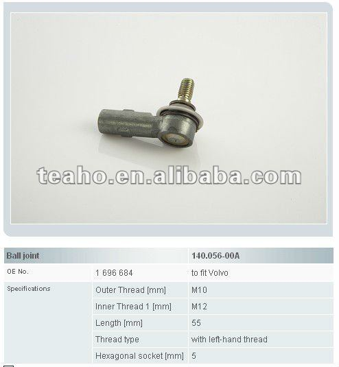 Automotive ball joint 1696684 for VOLVE