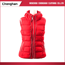 Chonghan Custom Design Red Women Winter Waistcoat From Manufacturer