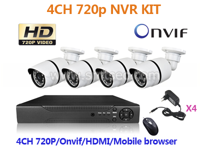 2016 New NVR-KIT104/960P Play&Plug WIFI IP Outdoor Camera CCTV NVR Security Systems Wireless P2P ONVIF 4CH 960P IP Camera