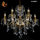 European style gold iron chandelier crystals pendant light ,retro lighting chandelier