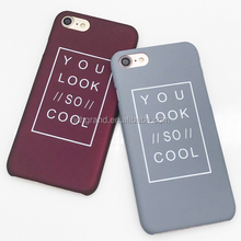 Fashion Letter Hard Frosted Matte PC phone Cases for iphone 5s 5 SE 6 6S 7 Plus