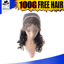 BBOSS Excellent class philippine hair full lace wigs, raw materials for wigs making, mixed grey wig