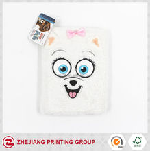New production flannel cover animal embroidery dairy for kids