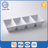 Food safety customize printed porcelain 4 section plate