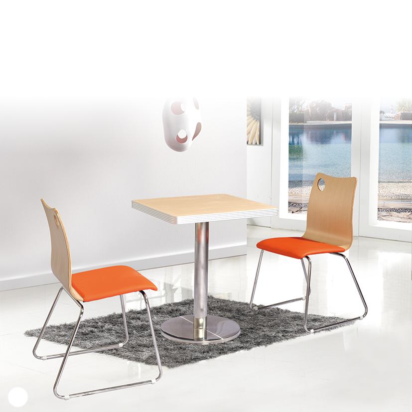 Restaurant Chairs wholesale PU cushion fast food restaurant furniture on Sales